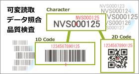 可変印字、バーコードの読み取り、データ照合、品質検査も簡単に設定できます。