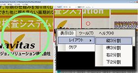 全体画像、部分画像、ブリンク、表示レイアウトをカスタマイズ可能