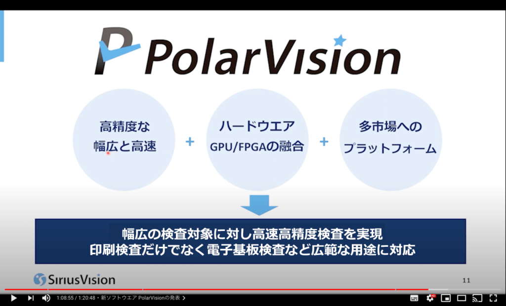 シリウスビジョンフェア2021 新製品ポーラービジョンの発表